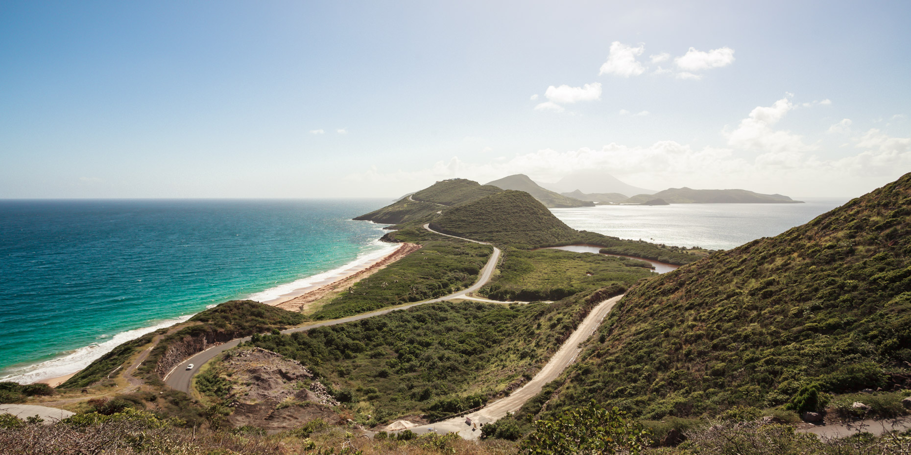 St Kitts hill Caribean Sea Atlantic Ocean