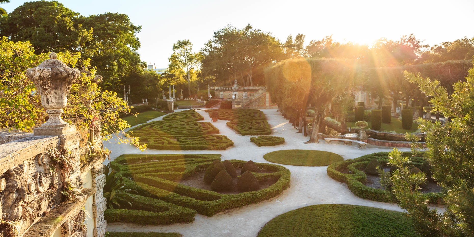 Manicured-Gardens-sunset